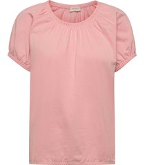 betina-o-ss-solid t-shirts & tops short-sleeved rosa free/quent