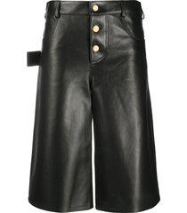 bottega veneta flared knee-length shorts - black