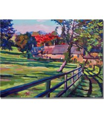 "david lloyd glover 'country house' canvas art - 32"" x 24"""