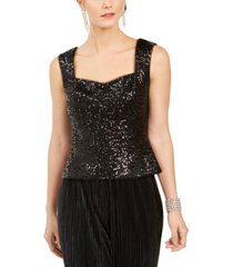adrianna papell sequin tank top