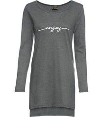 maglia lunga con spacchi e stampa (grigio) - rainbow