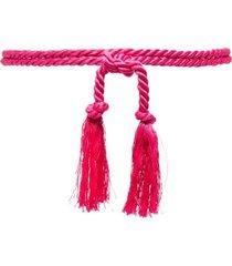 forte forte tassel-embellished rope belt - pink