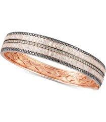 le vian exotic diamond bangle bracelet (4-7/8 ct. t.w.) in 14k rose gold