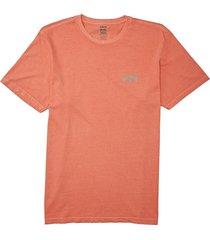 men's billabong men's arch wave graphic tee, size small - orange