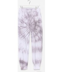 womens now in color tie dye joggers - grey