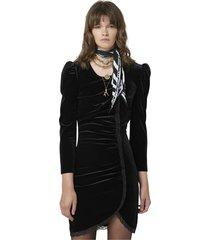 velvet sheath dress with lace details