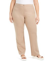 eileen fisher plus size straight-leg pants