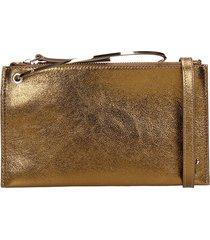 lautre chose cross body clutch in bronze leather