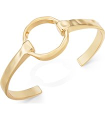 alfani gold-tone circle cuff bracelet, created for macy's