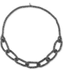 """style & co color beaded link 36"""" statement necklace, created for macy's"""
