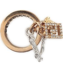 versace metallic strass fashion jewelry ring