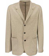 cashmere jersey blazer with patch pockets