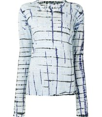 proenza schouler tie dye tissue jersey long sleeve tee - neutrals
