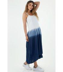 vestido  para mujer tennis, largo, fondo entero y proceso tie dye