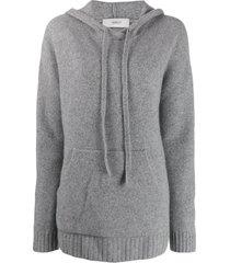 pringle of scotland oversized soft hoodie - grey