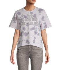 eleven paris women's graphic tie-dye t-shirt - orchid - size m