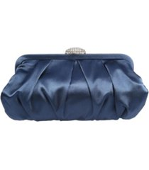 nina concord pleated frame clutch with pave clasp
