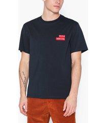 j lindeberg jordan-distinct cotton t-shirts & linnen navy