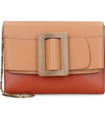 boyy buckle travel case leather clutch with strap