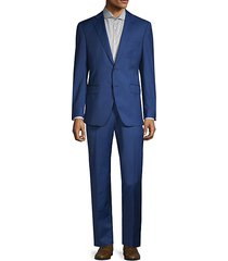 two-piece modern-fit classic wool & silk suit