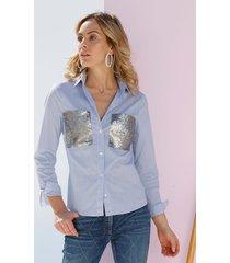 blouse amy vermont lichtblauw::wit