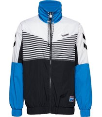 hmlcarl zip jacket sweat-shirt tröja blå hummel hive