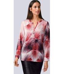 blouse alba moda offwhite::rood