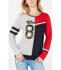 tommy hilfiger colorblocked graphic sweatshirt, created for macy's