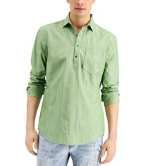 inc men's chambray popover shirt, created for macy's