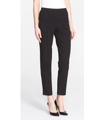 women's st. john collection ponte knit ankle pants, size 10 - black