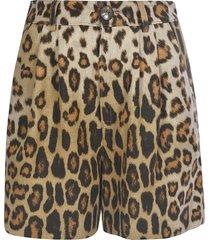 etro leopard print shorts