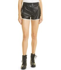 rta ganya faux leather shorts, size small in black at nordstrom