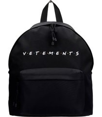 vetements backpack in black polyester
