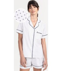 pijama conjunto curto em algodão estampado