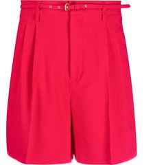 redvalentino belted bermuda shorts