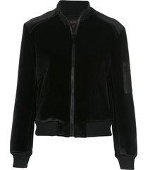 alala fitted bomber jacket - black