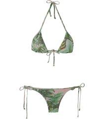 amir slama triangle bikini set - green
