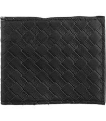 billetera negra bohemia texturada