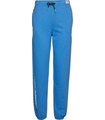 elissa joggers sweatpants mjukisbyxor blå superdry