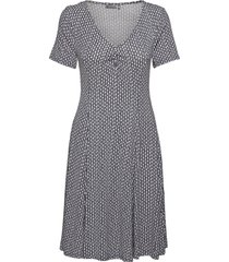 framdot 5 dress knälång klänning blå fransa