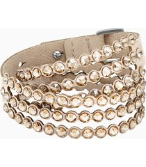 braccialetto swarovski power collection, beige
