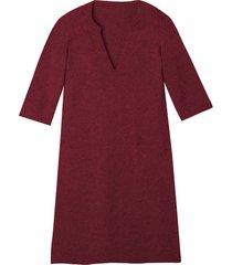 gebreide jurk, wijnrood 34