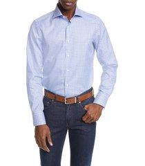 men's canali regular fit plaid dress shirt