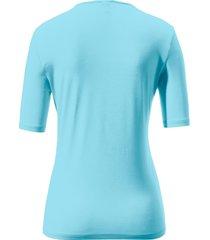 shirt met ronde hals en korte mouwen van peter hahn turquoise