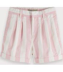 scotch & soda striped cotton twill shorts