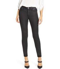 women's mavi jeans tess coated super skinny jeans, size 28 27 - black