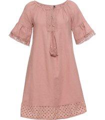 abito in misto lino (rosa) - rainbow