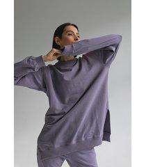 bluza fioletowa long