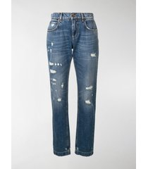 dolce & gabbana distressed effect jeans