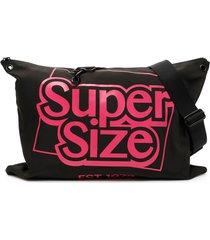 calvin klein large logo satchel